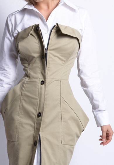 Azaris Trenchcoat-ruha oldalzsebekkel női