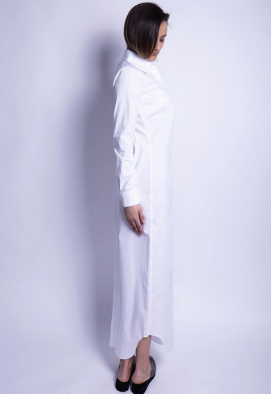 Azaris Рокля тип риза с остра яка Жени