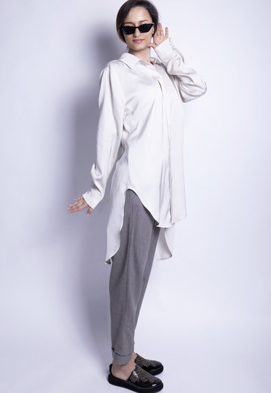Azaris Bő fazonú aszimmetrikus ing női