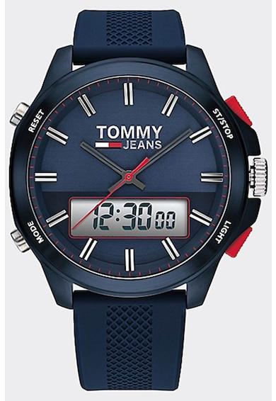 Tommy Jeans Digitális és analóg karóra szilikonszíjjal férfi
