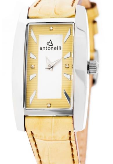 Antonelli Szögletes karóra 4 gyémánttal díszítve női