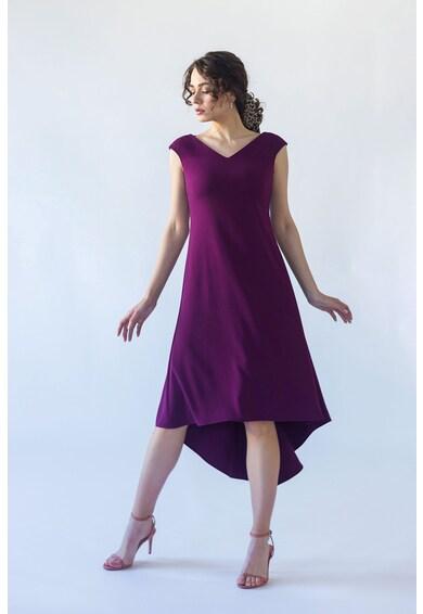Noria Anis Aszimmetrikus alsó szegélyű V-nyakú ruha női