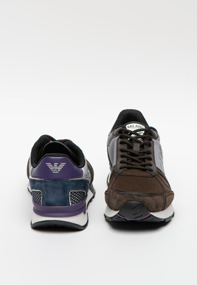 Emporio Armani Colorblock dizájnos sneaker nagyméretű logómintával férfi