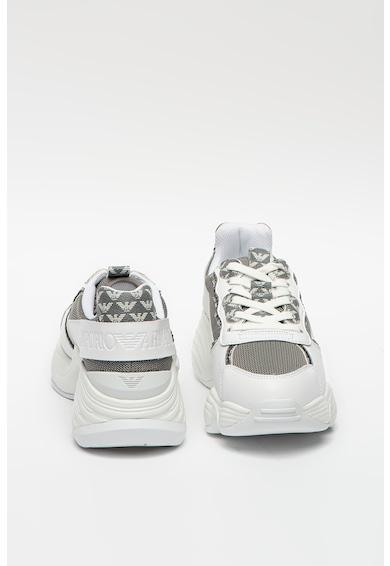 Emporio Armani Hálós sneaker bőr és műbőr részletekkel női