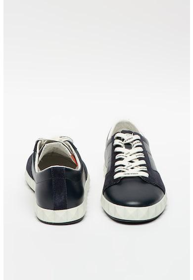 Emporio Armani Bőr sneaker nyersbőr részletekkel férfi
