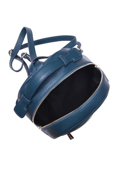 Zevo Adelina bőr hátizsák külső cipzáros zsebbel női