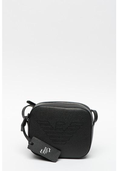 Emporio Armani Keresztpántos műbőr táska nagyméretű logóval női