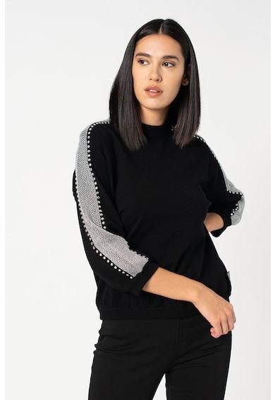Love Moschino Kerek nyakú pulóver szegecses rátétekkel női