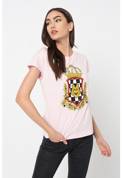 Love Moschino Kerek nyakú póló logómintával női
