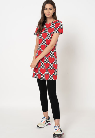Love Moschino A-vonalú mintás pólóruha női