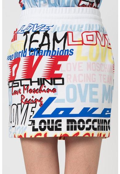 Love Moschino Logómintás szoknya megkötővel női