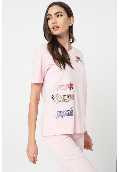 Love Moschino Kerek nyakú póló logóval női