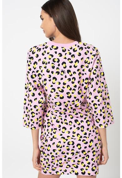 Love Moschino Állatmintás kerek nyakú pulóver női