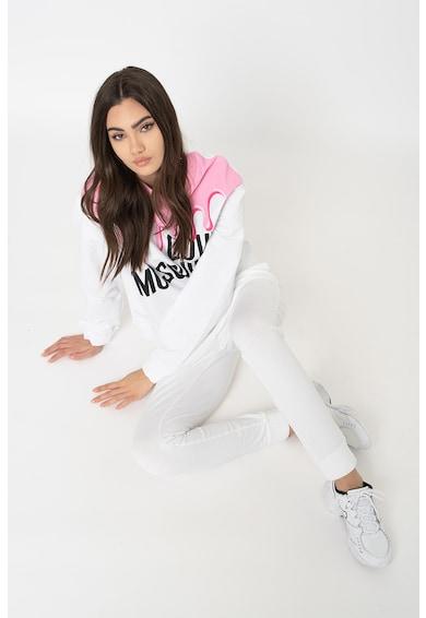 Love Moschino Kerek nyakú pulóver logós mintával női