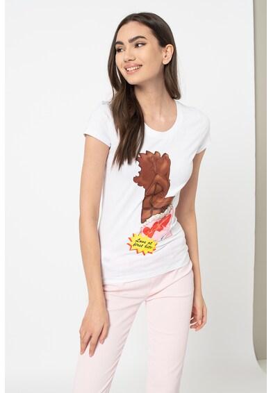 Love Moschino Mintás kerek nyakú póló X női