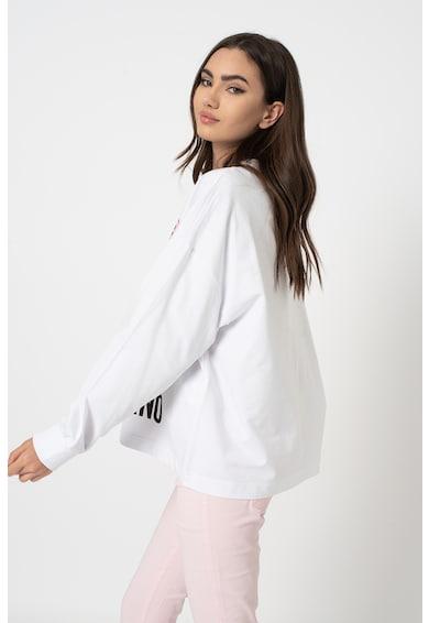 Love Moschino Bő fazonú pulóver logós mintával női