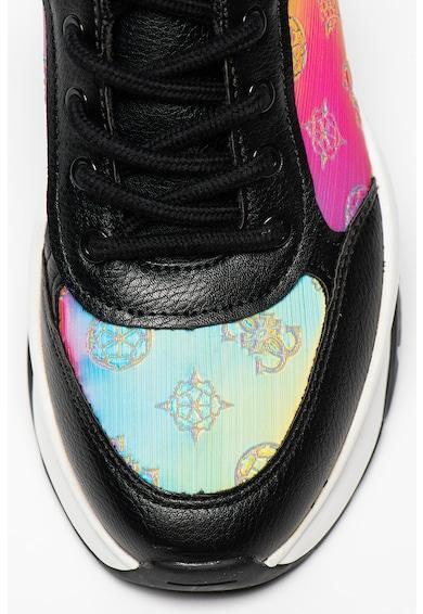 Guess Cleao műbőr sneaker dombornyomott logós részletekkel női