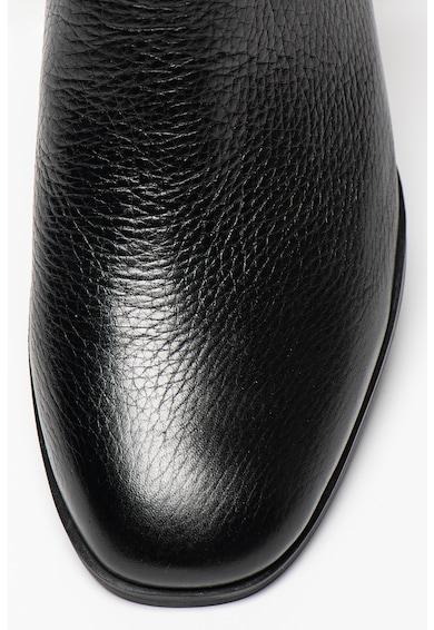 Guess Bőr bokacsizma fémes hatású logóval a pánton női