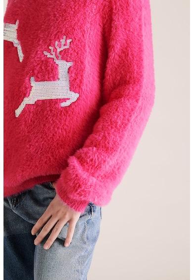 Marks & Spencer Kerek nyakú bolyhos pulóver flitteres rátétekkel Lány
