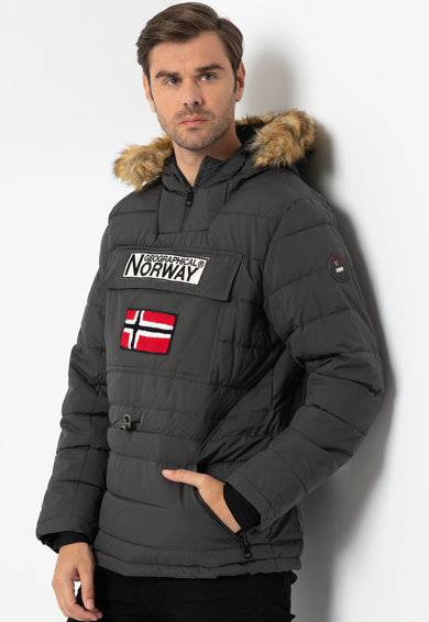 Geographical Norway Coconut bebújós bélelt télikabát műszőrme szegéllyel férfi