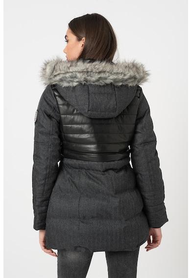 Geographical Norway Geaca cu vatelina si garnitura detasabila de blana sintetica Bunky Femei