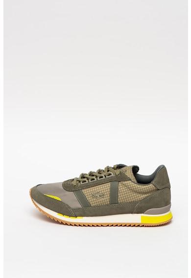 Lacoste Partner Retro nyersbőr sneaker bőr- és textilbetétekkel férfi