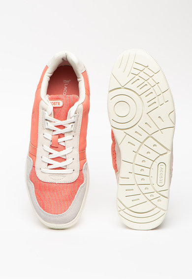 Lacoste T-Clip bőr és nyersbőr sneaker férfi