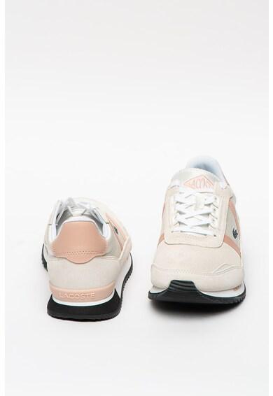 Lacoste Partner Retro nyersbőr sneaker bőr- és textilbetétekkel női