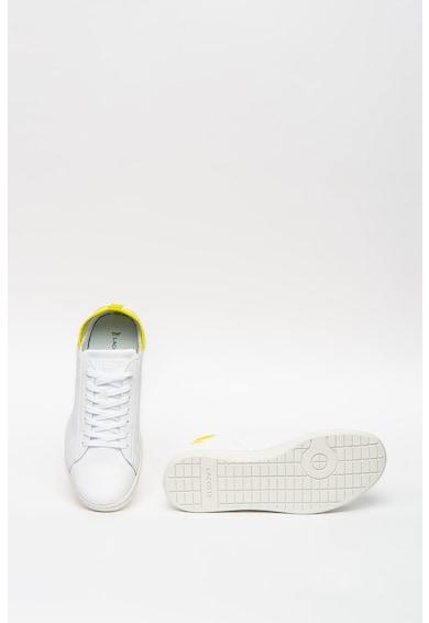 Lacoste Carnaby bőr sneaker textilbetétekkel női