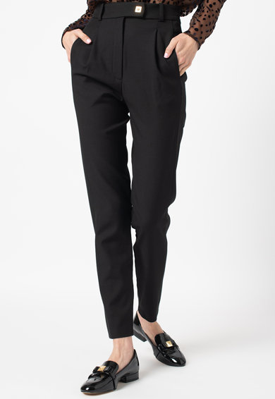 Pinko Pantaloni conici din amestec de lana cu talie inalta Femei