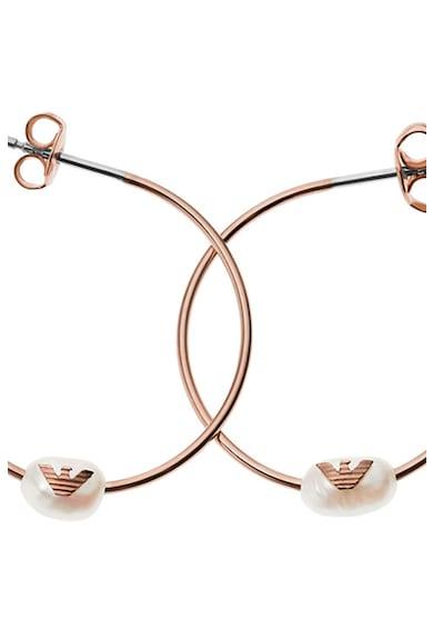 Emporio Armani Sterling ezüst karika-fülbevaló gyöngyökkel díszítve női