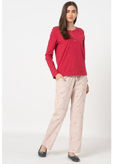 Triumph Pijama cu imprimeu discret cu vulpe Character Femei