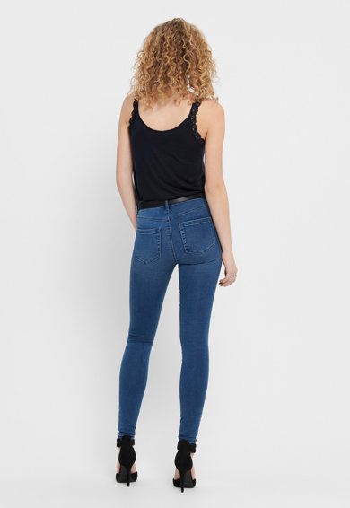 Only Koptatott hatású skinny fit farmernadrág női