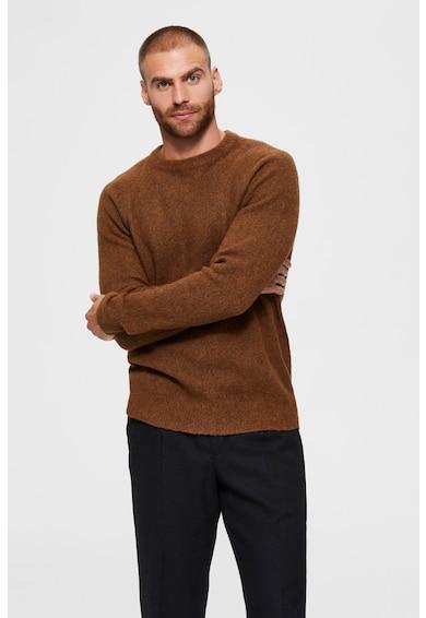 Selected Homme Kerek nyakú gyapjútartalmú pulóver férfi