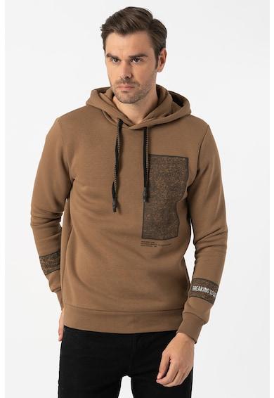 Jack&Jones Gunther mintás pulóver kapucnival férfi