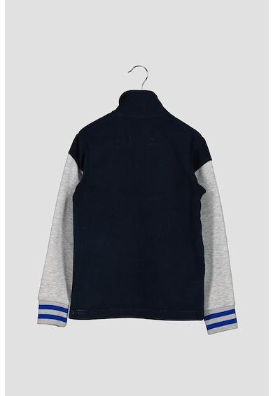 Jack&Jones Colorblock dizájnú pulóver cipzáros hasítékkal Fiú