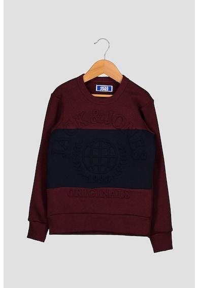 Jack&Jones Colorblock dizájnú pulóver domború dizájnnal Fiú