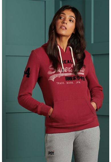 SUPERDRY Logómintás kapucnis pulóver női