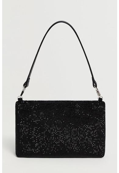 Mango Diva táska strasszkövekkel díszítve női