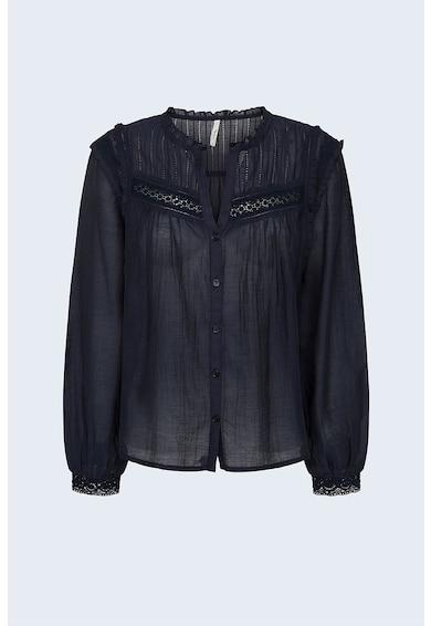 Pepe Jeans London Camasa de bumbac cu insertii de dantela Femei