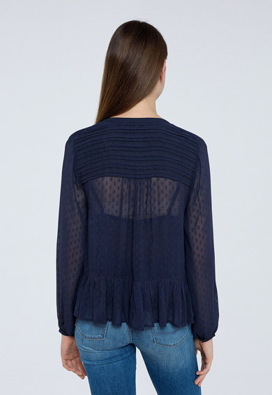 Pepe Jeans London Camasa cu peplum si detalii crosetate Femei