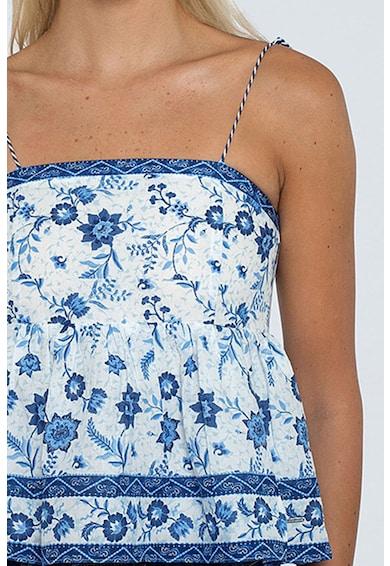 Pepe Jeans London Bluza fara maneci, cu imprimeu floral Femei