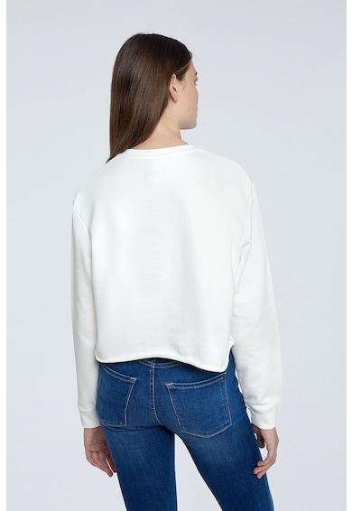 Pepe Jeans London Bluza sport crop cu imprimeu Femei