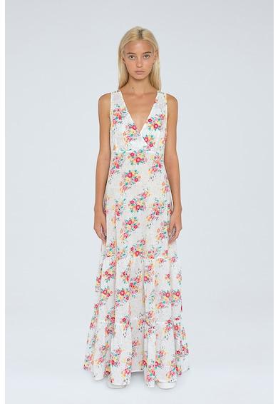Pepe Jeans London Rochie maxi evazata cu imprimeu floral Femei