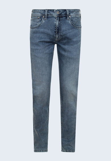 Pepe Jeans London Blugi cu croiala conica si aspect decolorat Barbati