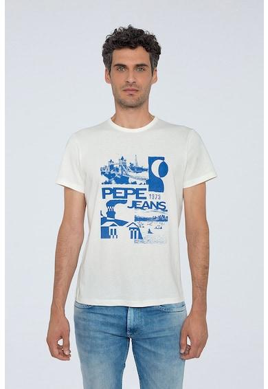 Pepe Jeans London Tricou regular fit cu model logo si grafic Barbati