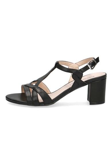 Caprice Кожени сандали с масивен ток Жени