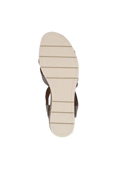 Caprice Sandale wedge de piele cu velcro Femei