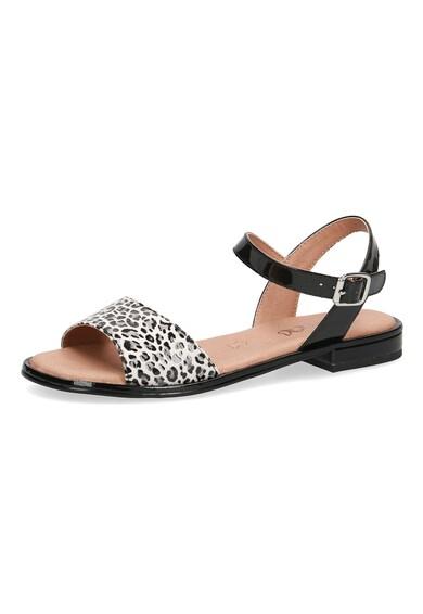 Caprice Sandale de piele cu animal print Femei