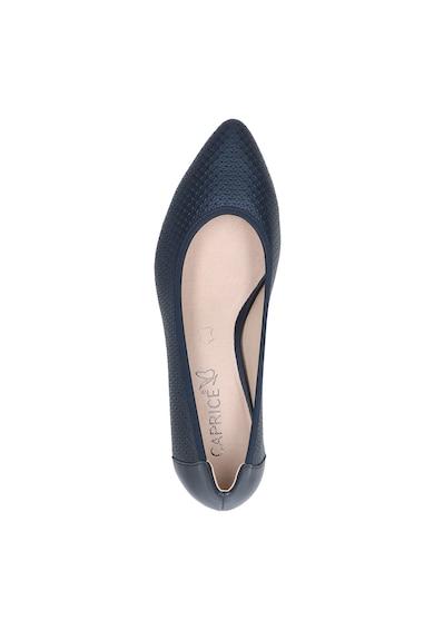 Caprice Pantofi de piele texturata cu toc kitten Femei